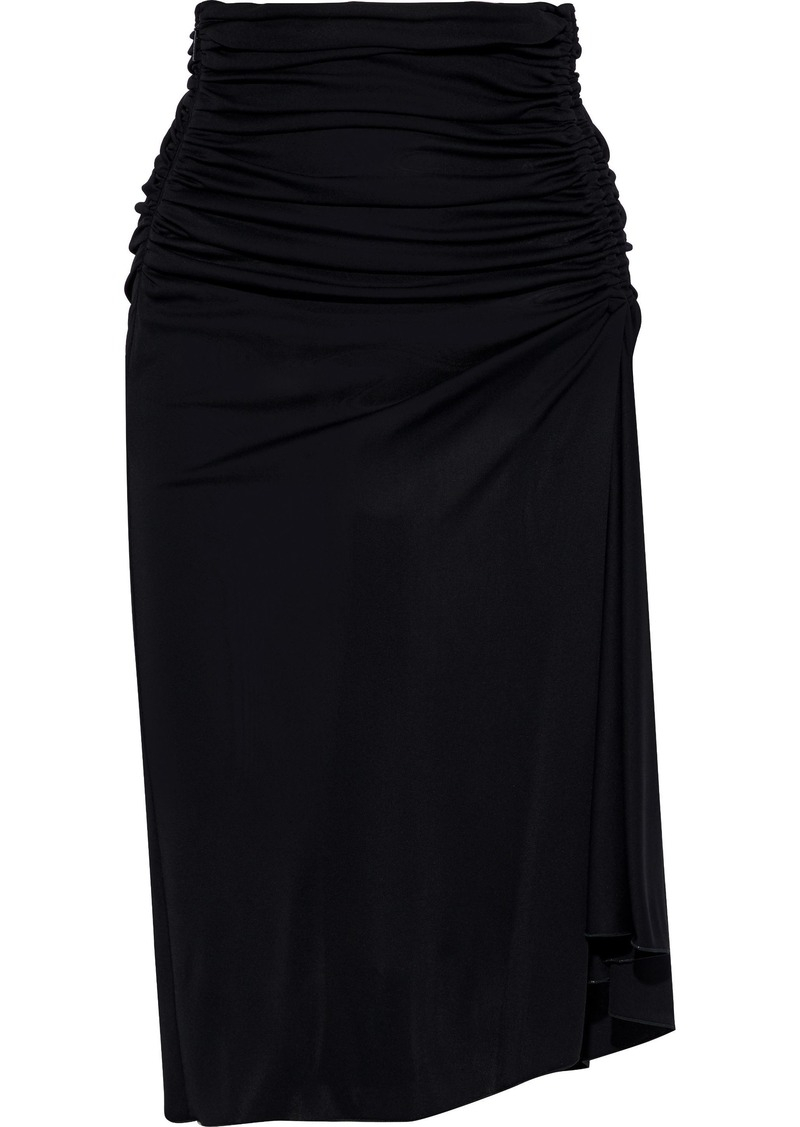Emilio Pucci Woman Draped Ruched Jersey Skirt Black