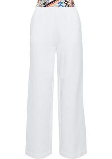 Emilio Pucci Woman French Cotton-terry Wide-leg Pants White
