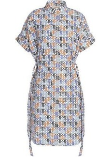 f5d03e3053b0 Emilio Pucci Woman Gathered Printed Cotton-blend Dress White
