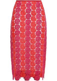 Emilio Pucci Woman Guipure Lace Pencil Skirt Fuchsia