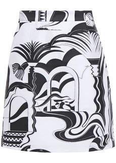 Emilio Pucci Woman Jacquard Mini Skirt White