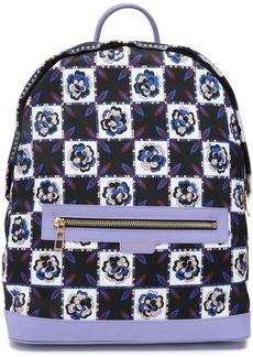 Emilio Pucci Woman Leather-trimmed Checked Twill Backpack Lavender
