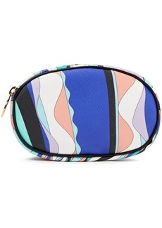 Emilio Pucci Woman Leather-trimmed Printed Coated-canvas Cosmetics Case Royal Blue