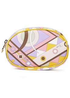 Emilio Pucci Woman Leather-trimmed Printed Coated-canvas Cosmetics Case Lilac