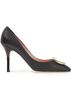 Emilio Pucci Woman Logo-embellished Leather Pumps Black