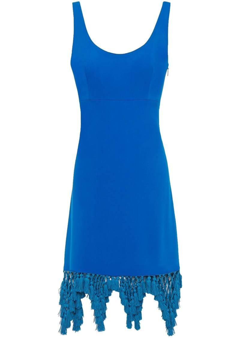 Emilio Pucci Woman Macramé-trimmed Crepe Dress Cobalt Blue