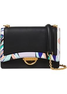 Emilio Pucci Woman Olivia Printed Leather Shoulder Bag Black
