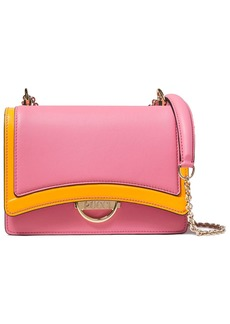 Emilio Pucci Woman Olivia Two-tone Leather Shoulder Bag Pink