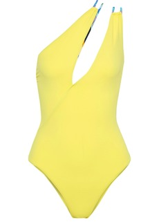Emilio Pucci Woman One-shoulder Cutout Swimsuit Yellow