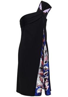 Emilio Pucci Woman One-shoulder Sequin-embellished Jersey Dress Black