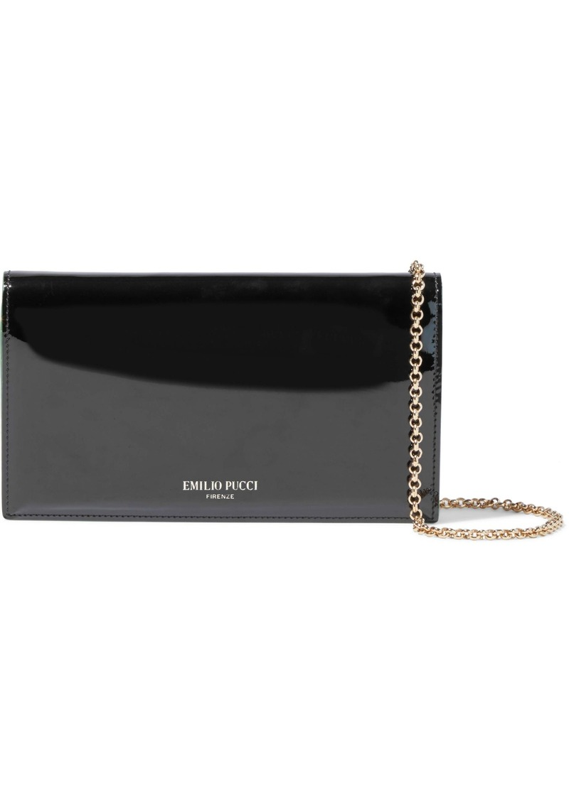Emilio Pucci Woman Patent-leather Clutch Black