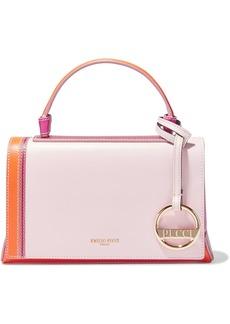 Emilio Pucci Woman Pilot Mini Color-block Leather Shoulder Bag Pastel Pink