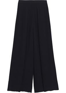Emilio Pucci Woman Pleated Crepe De Chine Wide-leg Pants Black