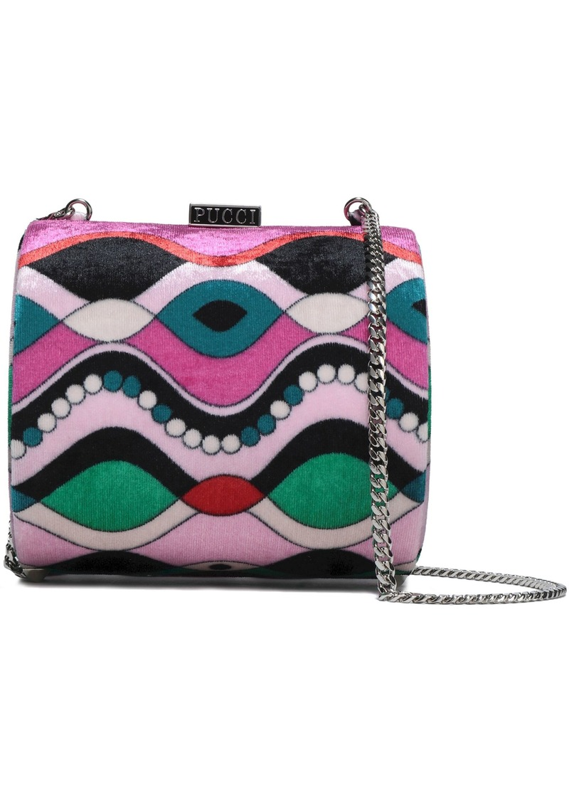 Emilio Pucci Woman Printed Chenille Shoulder Bag Baby Pink