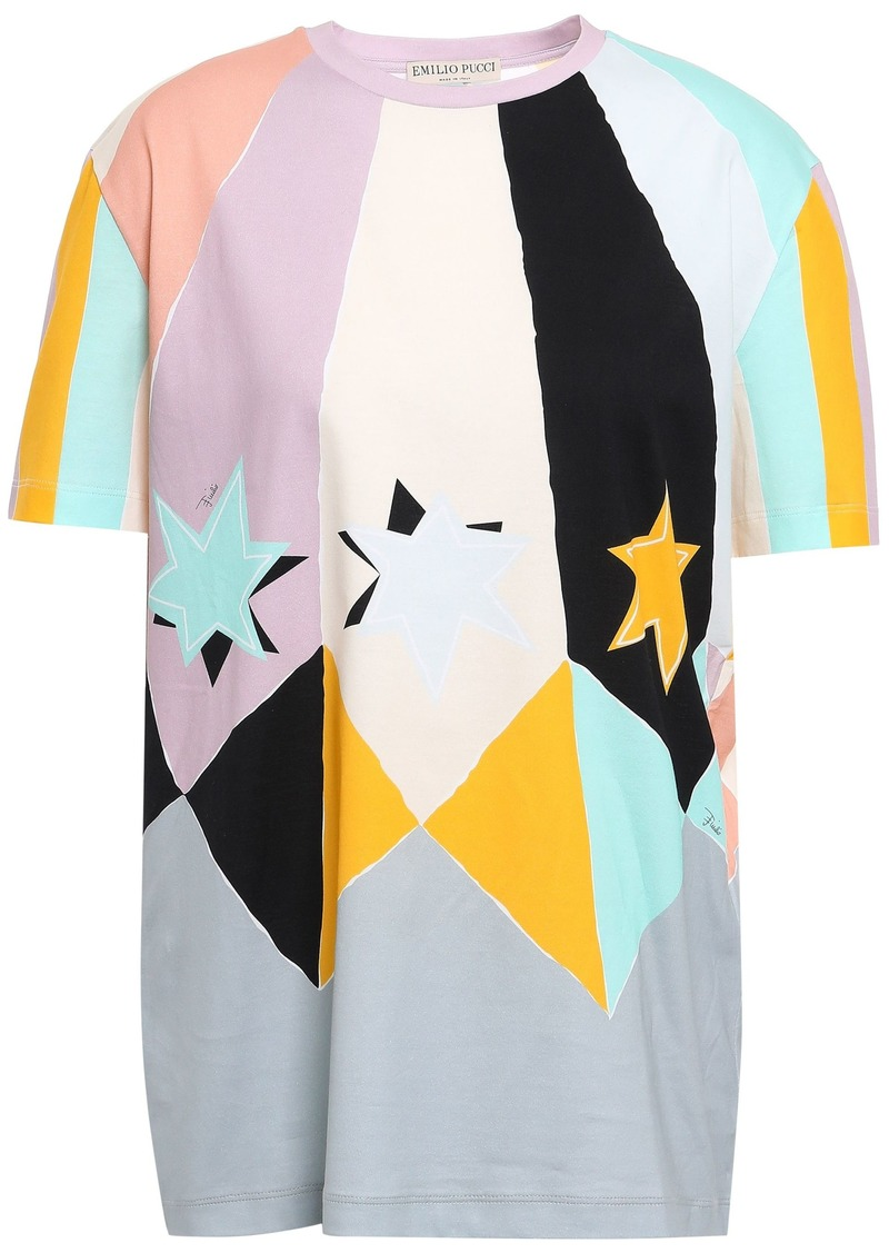Emilio Pucci Woman Printed Cotton-jersey T-shirt Multicolor