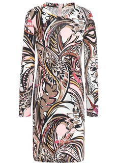 Emilio Pucci Woman Printed Crepe Mini Dress Baby Pink
