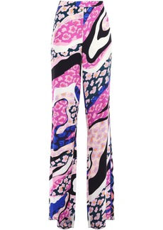 Emilio Pucci Woman Printed Crepe Wide-leg Pants Pink