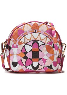 Emilio Pucci Woman Printed Faux Textured-leather Shoulder Bag Pink