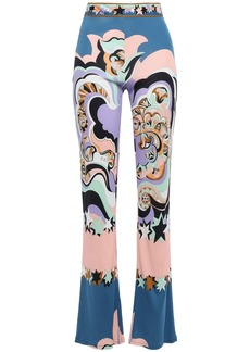 Emilio Pucci Woman Printed Jersey Bootcut Pants Cobalt Blue