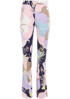 Emilio Pucci Woman Printed Jersey Bootcut Pants Pastel Pink
