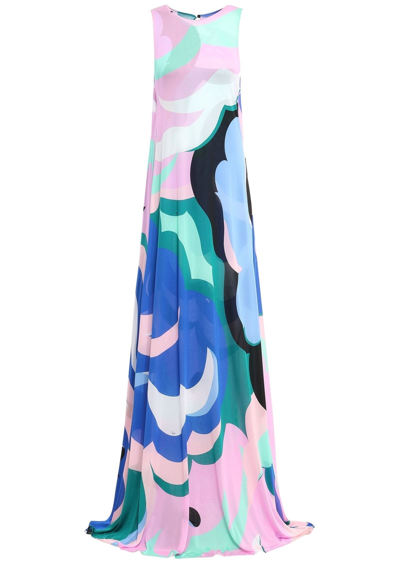Emilio Pucci Woman Printed Jersey Gown Baby Pink