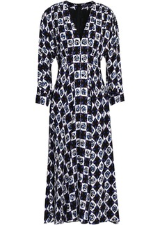 Emilio Pucci Woman Printed Jersey Midi Dress Black