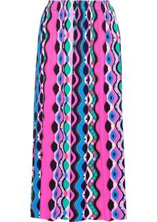 Emilio Pucci Woman Printed Jersey Midi Skirt Pink