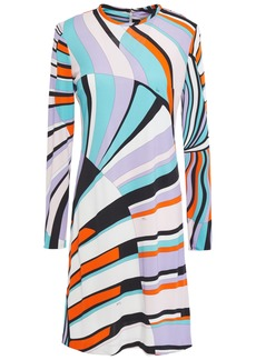 Emilio Pucci Woman Printed Jersey Mini Dress Lavender