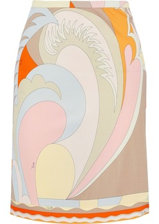 Emilio Pucci Woman Printed Jersey Mini Skirt Beige