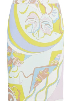 Emilio Pucci Woman Printed Jersey Skirt Mint