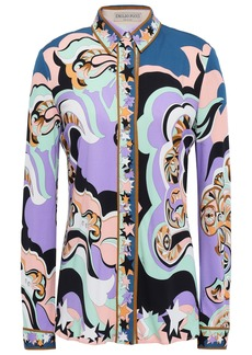 Emilio Pucci Woman Printed Jersey Shirt Lavender
