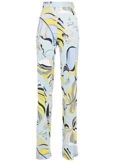 Emilio Pucci Woman Printed Jersey Straight-leg Pants Sky Blue
