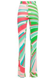 Emilio Pucci Woman Printed Jersey Straight-leg Pants Multicolor