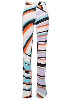 Emilio Pucci Woman Printed Jersey Straight-leg Pants Off-white