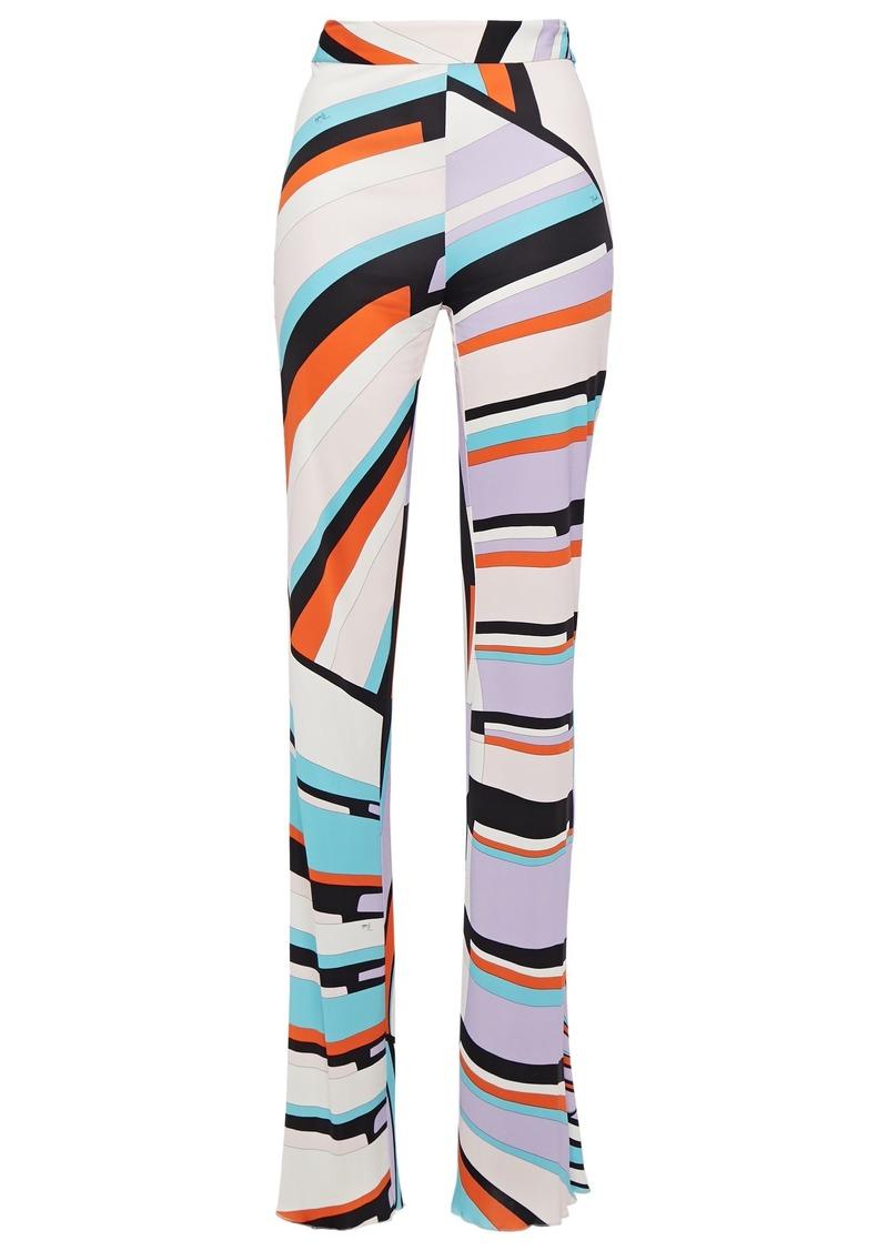 Emilio Pucci Woman Printed Jersey Straight-leg Pants Off-white