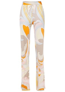 Emilio Pucci Woman Printed Jersey Straight-leg Pants Peach