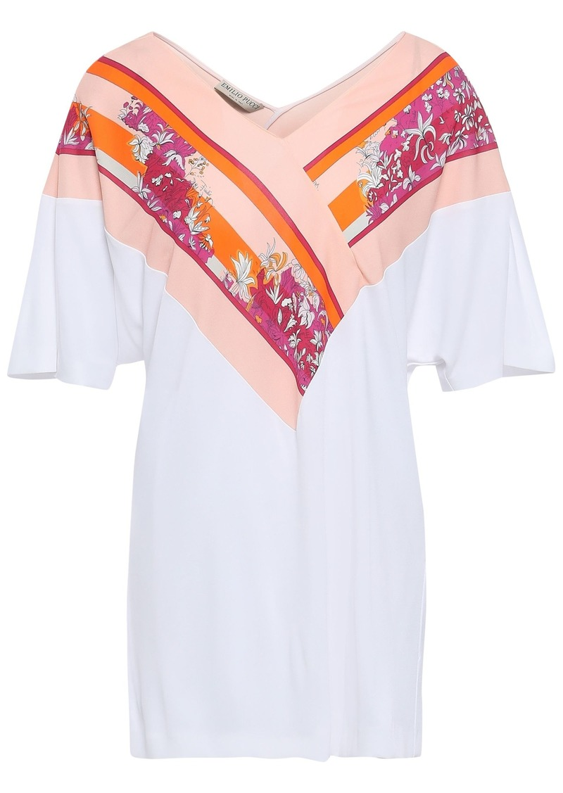 Emilio Pucci Woman Printed Jersey T-shirt White