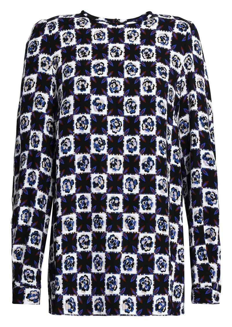 Emilio Pucci Woman Printed Jersey Top Black