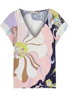 Emilio Pucci Woman Printed Jersey Top Ecru