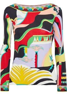 Emilio Pucci Woman Printed Jersey Top Multicolor