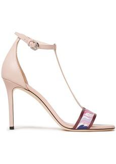 Emilio Pucci Woman Printed Leather Sandals Blush