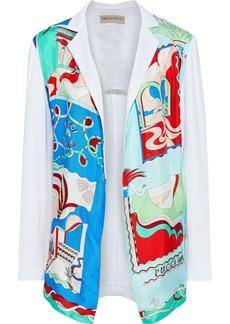 Emilio Pucci Woman Printed Satin-paneled Cady Jacket White