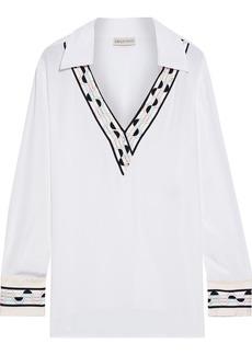 Emilio Pucci Woman Printed Silk Crepe De Chine Blouse White