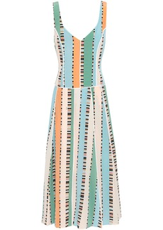 Emilio Pucci Woman Printed Silk Crepe De Chine Midi Dress Multicolor