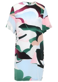 Emilio Pucci Woman Printed Silk Crepe De Chine Mini Dress Multicolor