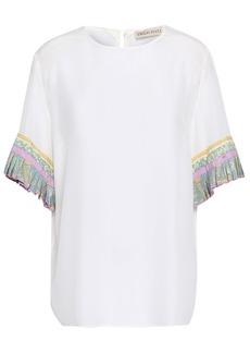 Emilio Pucci Woman Printed Silk Crepe De Chine Top White