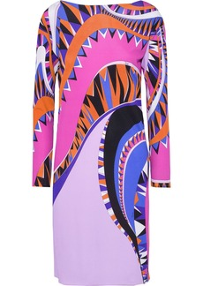 Emilio Pucci Woman Printed Silk-jersey Dress Lavender