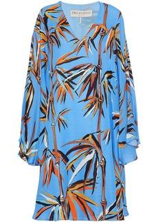 Emilio Pucci Woman Printed Silk Kaftan Light Blue
