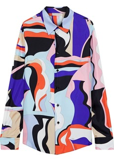 Emilio Pucci Woman Printed Silk-twill Shirt Multicolor