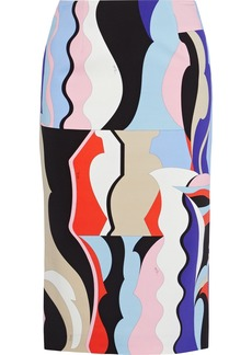 Emilio Pucci Woman Printed Stretch-cady Pencil Skirt Multicolor